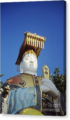 Tin Hua Temple Colorful Statue Canvas Print by Gloria and Richard Maschmeyer - Printscapes