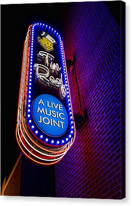 Tin Roof Beale Street Canvas Print by Stephen Stookey