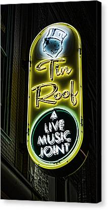 Tin Roof - Gritty Canvas Print by Stephen Stookey