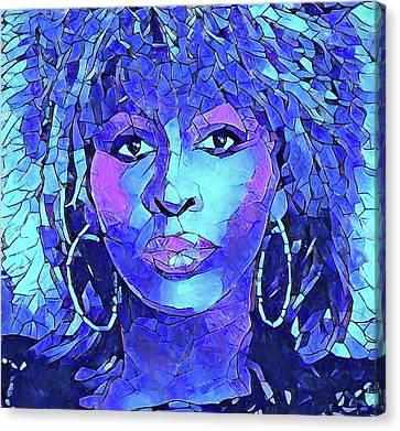 Tina Turner Abstract Portrait Canvas Print