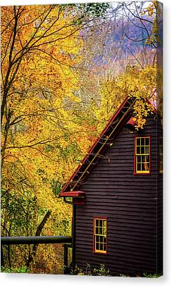 Tingler's Mill In Fall Canvas Print