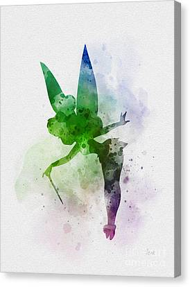 Fairy Canvas Print - Tinker Bell by Rebecca Jenkins