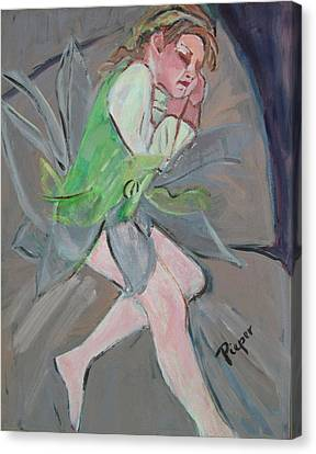 Canvas Print featuring the painting Tinker Belle by Betty Pieper