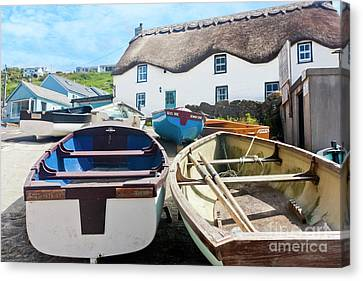 Sennen Cove Canvas Print - Tinker Taylor Cottage Sennen Cove Cornwall by Terri Waters