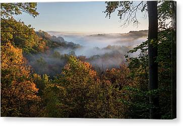 Canvas Print featuring the photograph Tinkers Creek Gorge Overlook by Dale Kincaid