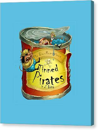 Tinned Pirates Canvas Print by Andy Catling