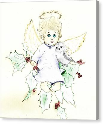 Tinted Little Angel Canvas Print by Sonya Chalmers