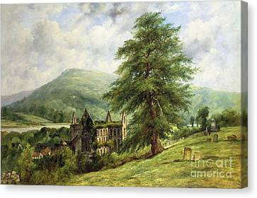 Tintern Abbey  Canvas Print by Frederick Waters Watts