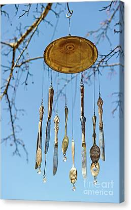 Wind Chimes Canvas Print - Tintinnabulation.. by Nina Stavlund