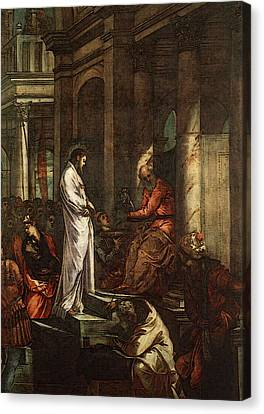Tintoretto Christ Before Pilate Canvas Print by Jacopo Robusti Tintoretto