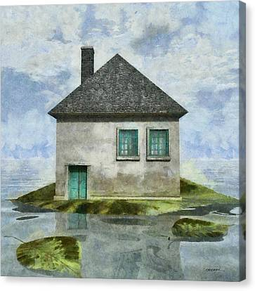 Playful Canvas Print - Tiny House 2 by Cynthia Decker