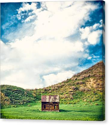 Old Cabins Canvas Print - Tiny by Humboldt Street
