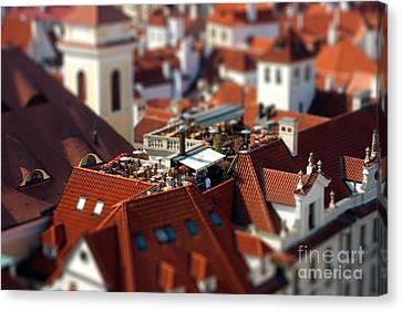 Tiny Roof Restaurant Canvas Print by Joerg Lingnau
