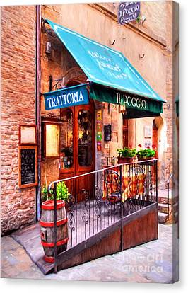Tiny Trattoria In Tuscany Canvas Print