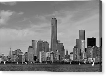 Tip Of Manhattan Canvas Print by Yue Wang