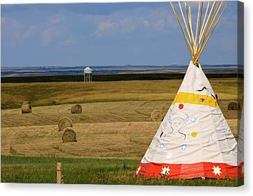 Canvas Print featuring the photograph Tipi On The High Plains by Kate Purdy