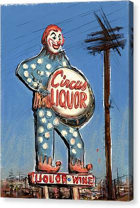 Tipsy The Clown Canvas Print