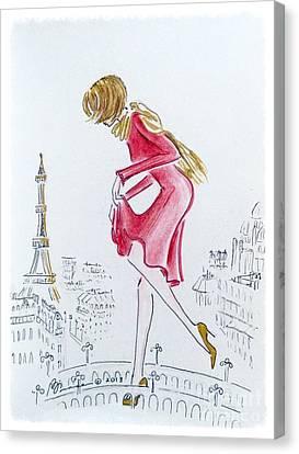 Tiptoeing Through Paris Canvas Print