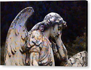 Tired Angel Canvas Print