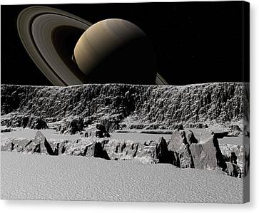 Canvas Print featuring the digital art Tital Forces by David Robinson