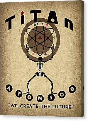 Titan Atomics Canvas Print by Cinema Photography