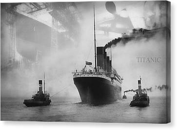 Belfast Canvas Print - Titanic by Chris Cardwell