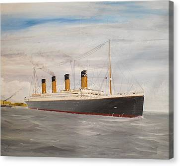 Titanic Departing Queenstown Canvas Print by James McGuinness