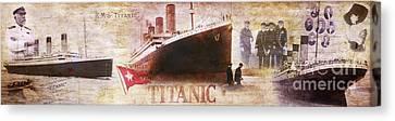 Titanic Panoramic Canvas Print by Jon Neidert