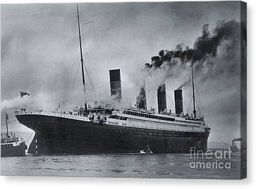 Trial Canvas Print - Titanic's Sea Trials by The Titanic Project