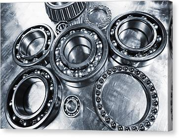 Canvas Print featuring the photograph Titanium And Steel Ball-bearings by Christian Lagereek