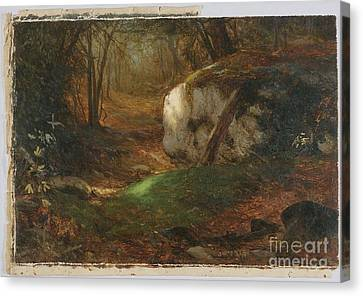 Title Mossy Bank Canvas Print by MotionAge Designs