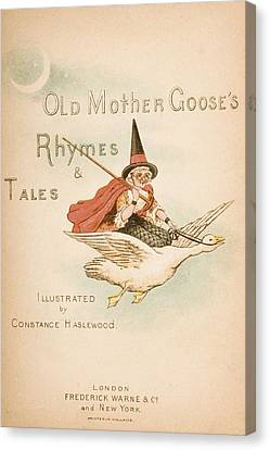 Title Page Illustration From Old Mother Canvas Print by Vintage Design Pics