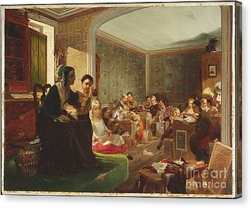 Title Schoolroom Canvas Print by MotionAge Designs