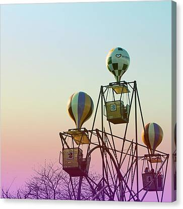 Air Balloons Canvas Print - Tivoli Balloon Ride by Linda Woods