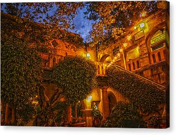 Canvas Print featuring the photograph Tlaquepaque Evening by Laura Pratt