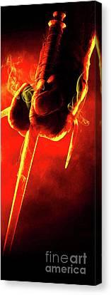 Tmnt 1   -  Raphael Smoky Red. Canvas Print by Prar Kulasekara