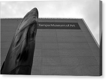 Canvas Print featuring the photograph Tampa Museum Of Art Work A by David Lee Thompson