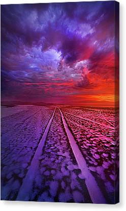 Snow Drifts Canvas Print - To All Ends Of The World by Phil Koch