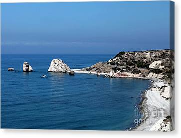 To Aphrodite's Rocks Canvas Print by John Rizzuto