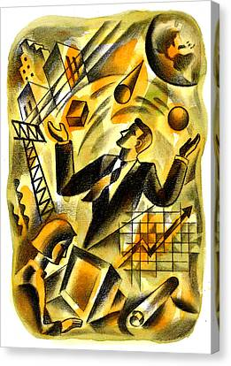To Be A Businessman Canvas Print by Leon Zernitsky