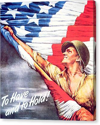 To Have And To Hold Canvas Print by American School