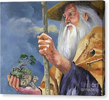 To Hold The World In The Palm Of Your Hand Canvas Print by J W Baker