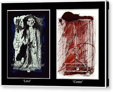 Canvas Print featuring the painting To Love Must Be Centered by Carol Rashawnna Williams