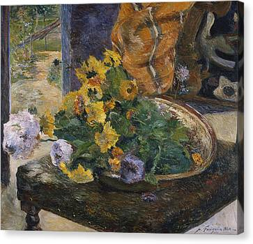 Bold Colors Canvas Print - To Make A Bouquet by Paul Gaugin
