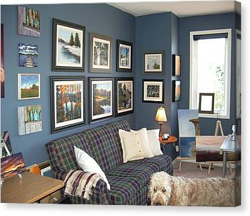 Canvas Print featuring the painting To Our Arts Content 2 by Diane Daigle
