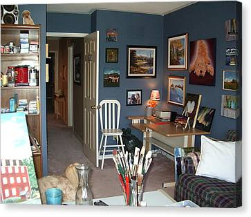 Canvas Print featuring the painting To Our Arts Content 3 by Diane Daigle