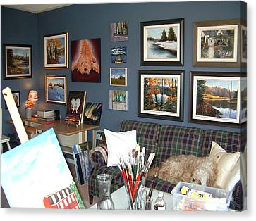 Canvas Print featuring the painting To Our Arts Content by Diane Daigle