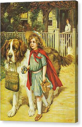 To School Well Fed With Grape Nuts Canvas Print by To School Well Fed With Grape Nuts
