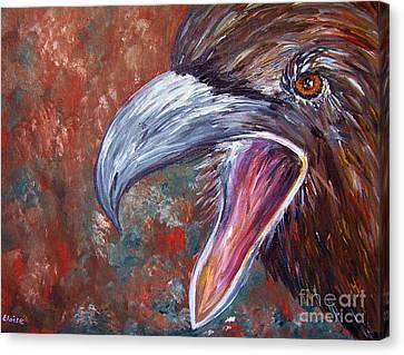 To Speak Of Eagles Canvas Print by Eloise Schneider
