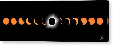 Totality Canvas Print - Stealing The Sun by Brandon Griffin